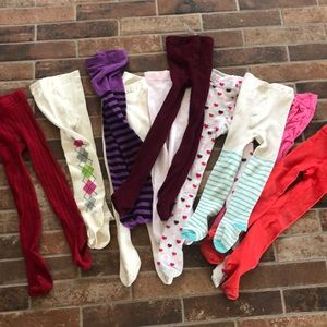 Set of 10 sweater tights multi color and brand 3/4